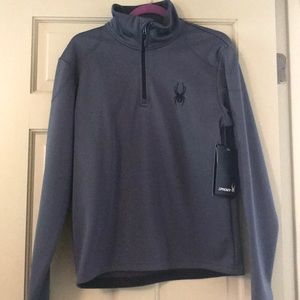 Men's 1/2 Zip Fleece Spyder Brand Sweatshirt